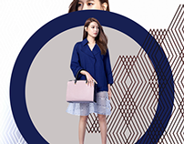 Sooyoung in Geometric Blue