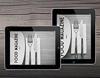 Tablet Food Magazine Template