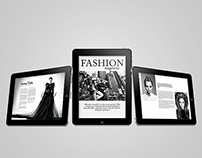Tablet Fashion Magazine Template