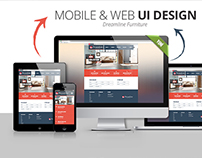 Dreamline Furniture Mobile & Web Design