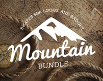 Mountain Shapes For Logos And Badges Bundle