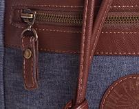 Mochila masculina em Jeans