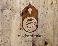 "Branding of a family guesthouse ""Modra sikorka"""