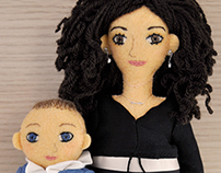 Vanessa and Francisco Javier. Handmade custom dolls