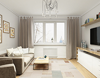 Apartment in Scandinavian style