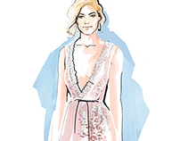Red Carpet Fashion Illustrations