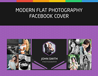 Modern Flat Photography Facebook Cover Template