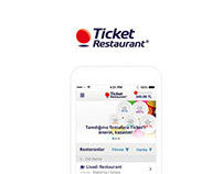 Ticket Restaurant - UI Design iOS
