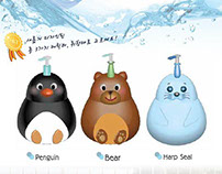 BODY WASH Animal series 3D