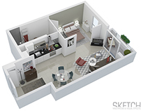 French Apartment Floor Plan