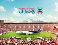 COPA AMERICA CHILE 2015 LAN Y TAM