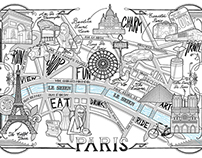Paris Detailed Map Drawing