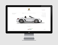 Porsche Website Re-Design Concept