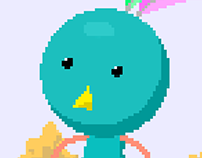 Manbird pixelart animations