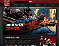 Comics and Gaming - Custom Website Design