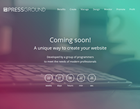 Pressground Launching Soon Web Design