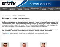 Proposed Restek webpage in Spanish