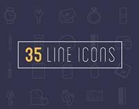 35 line icons