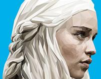 Daenerys Targaryen - Polyart