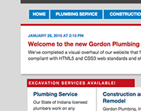 Gordon Plumbing Website Rebrand