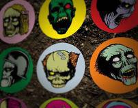 Stickers: Zombie heads!