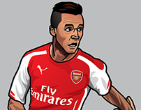 Alexis Sánchez illustration