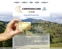 Carpathian Card (webdesign)