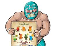 Branding Ilustración Las Helodias Restaurante Bar