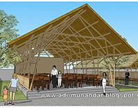 Arsitektur Restaurant Bambu di Sidoarjo