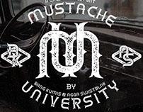 Mustache University Font