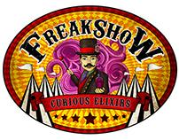 Freakshow Curious Elixir logo concepts