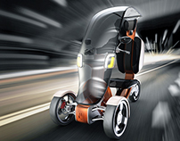 Electric three-wheeler for disabled