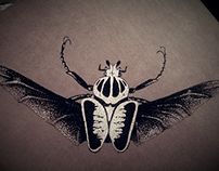 Beetle dotwork