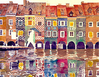 watercolors from Poznań
