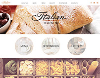Website for italian restaurant
