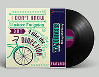 Sony Music India 'TV Dinners' Album - Typography