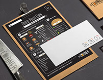 Identity Design for Gourmet Burger Bar & Pub