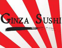 Ginza Sushi restaurant menu design