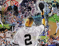 Derek Jeter Greatest Moments Graphic Painted Canvas
