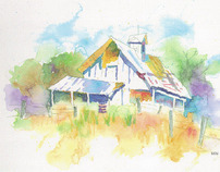 WATERCOLOURS: Buildings, Landscapes, and Whimsy