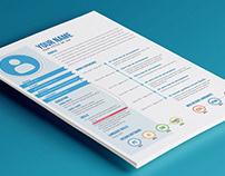 Free Flat Timeline Resume in Illustrator Format