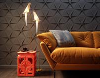 3D concrete tile #15, brand ASHOME