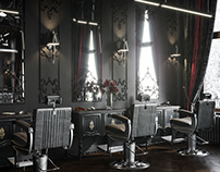 Barbershop in Poland