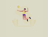 Female Athlete Illustration 03