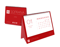 SOPRANA PERSONNEL INTERNATIONAL calendar design