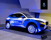 Branding | Car wrap for Jaguar/ Malta Marathon