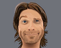 Portrait of Max Lakmus. Vector graphics.