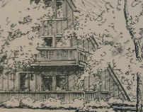 LINE DRAWINGS: Buildings with landscapes: a specialty