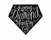 Diamond Illustrative Lettering