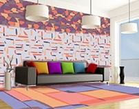 BLOW - diseño de alfombra y papeles